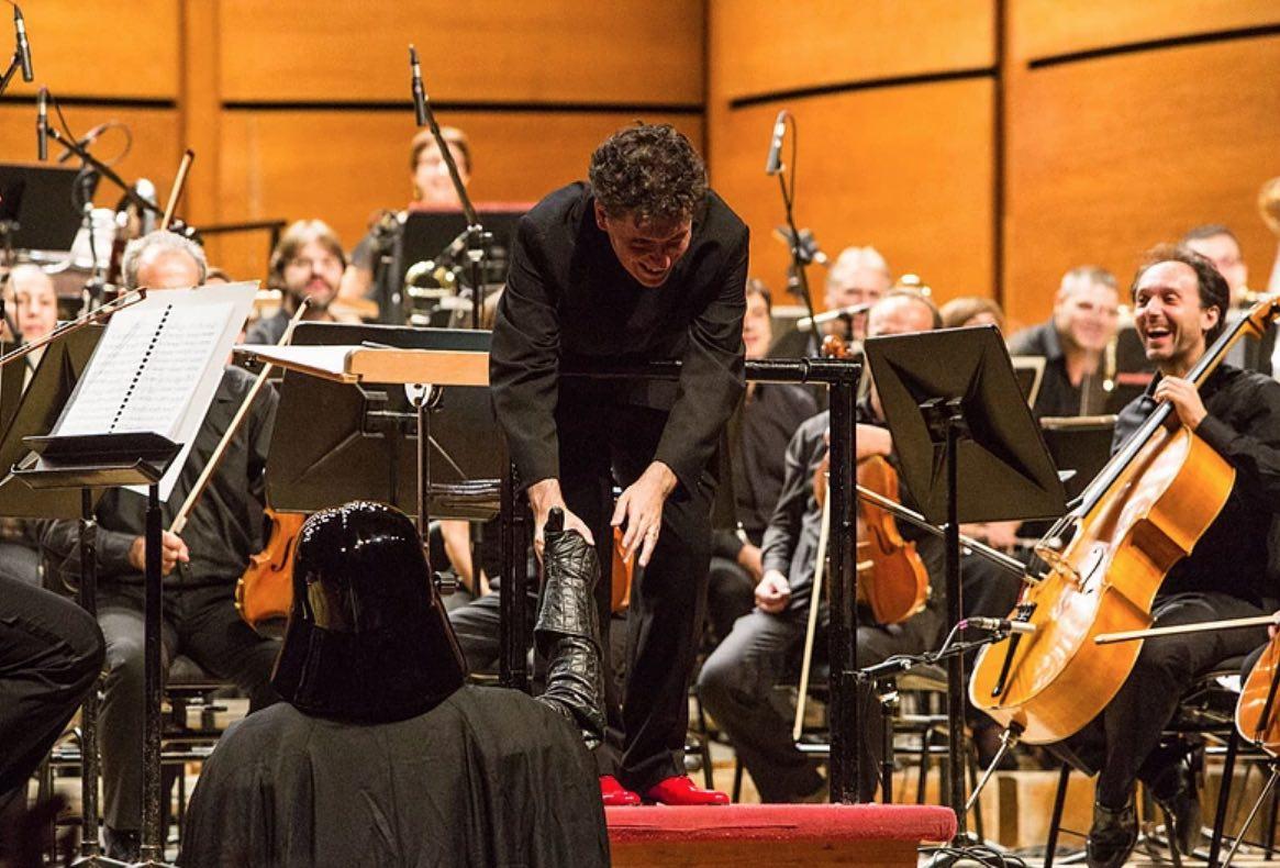 Pedroni con Darth Vader. Foto di Roberto Finizio