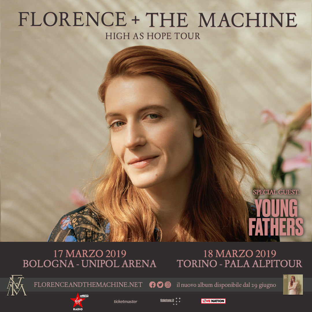 Due date in Italia per Florence and the Machine | Rolling ...