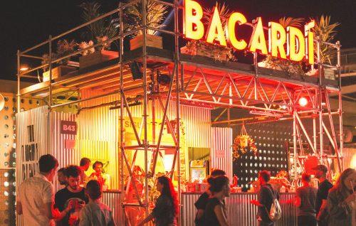 Un'immagine del bar realizzato da Bacardì al Primavera
