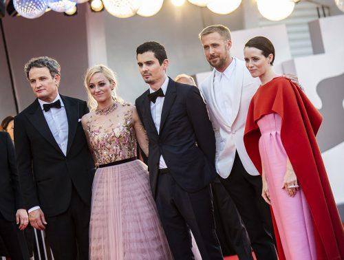 """Il cast di """"First Man"""" a Venezia 75. Il cast di """"First Man"""" a Venezia75Foto di Karen Di Paola / ROCKETT."""
