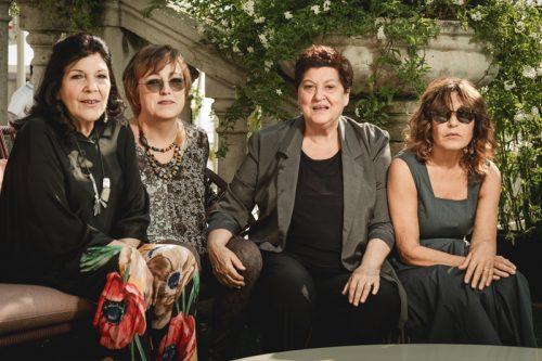Rossella Canaccini, Daniela Santerini, Viviana Tacchella e la regista Wilma Labate scattate a Venezia 75 da Fabrizio Cestari.