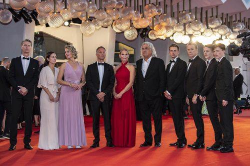 Il cast e gli autori di '22 july' sul red carpet di Venezia 75. Foto di Karen Di Paola / ROCKETT.