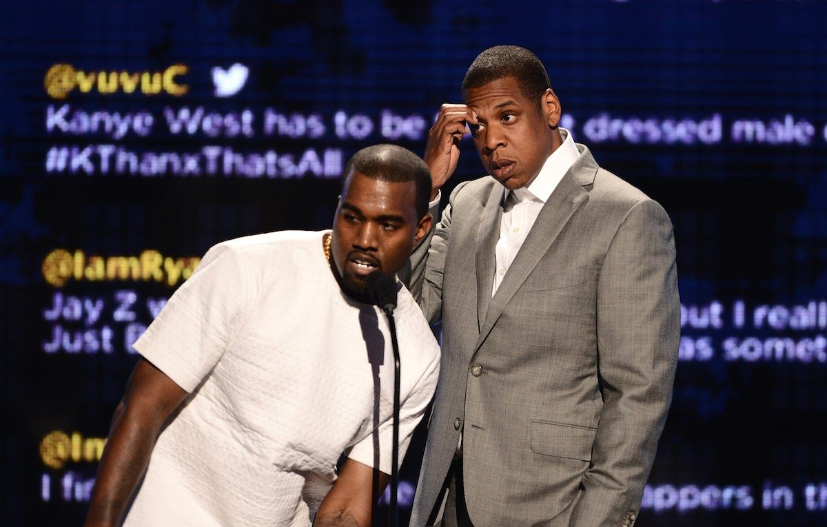 Kanye e Jay Z nel 2012 ai BET Awards di Los Angeles, California. Foto: Getty
