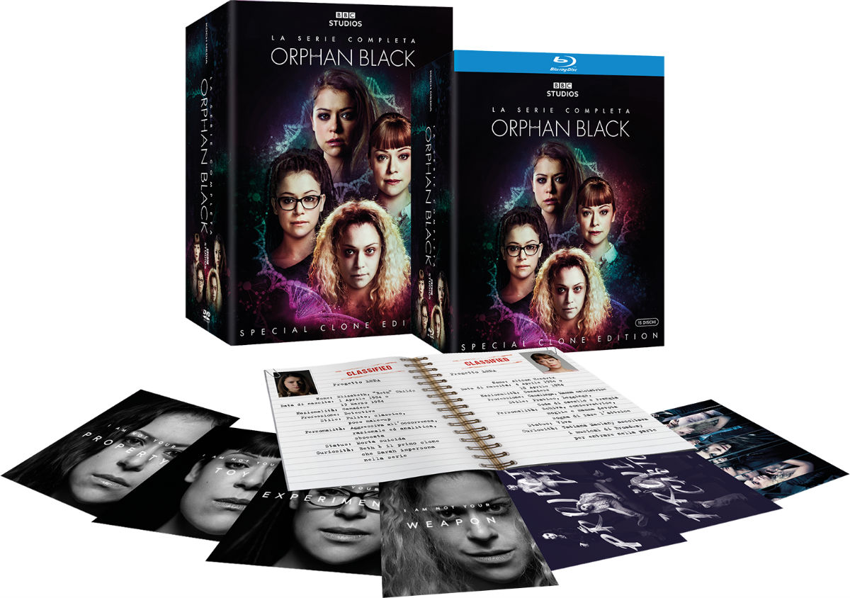 Il box set di Orphan Black, per la prima volta in Home Video in Italia