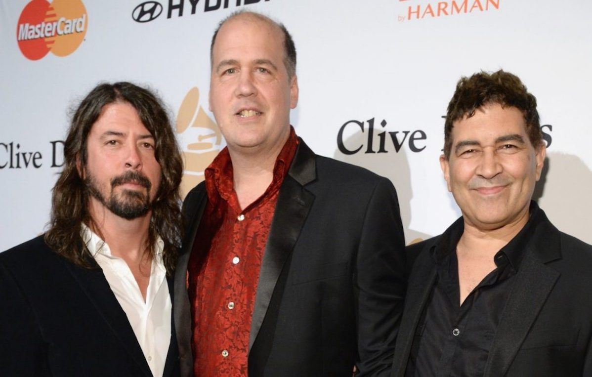 Grohl, Novoselic e Smear. Fonte: Getty
