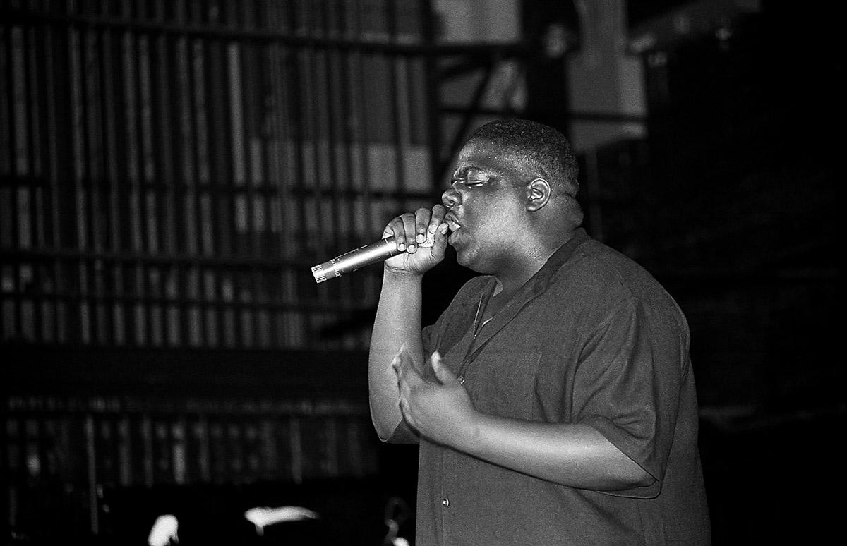 Notorious B.I.G. al Riviera Theatre di Chicago, Illinois, nel settembre del 1994.