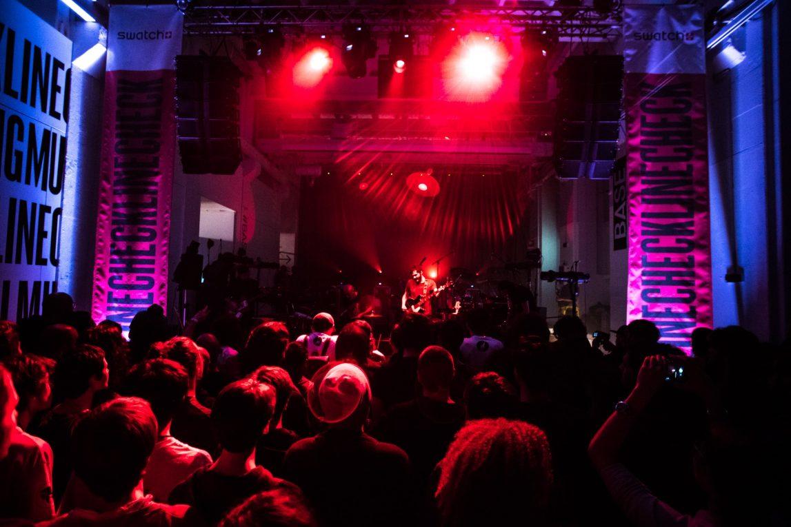Un'immagine del Linecheck durante il live dei Calibro 35 l'anno scorso