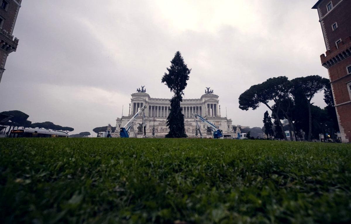 Spelacchio a Roma, ha qualche ramo piegato