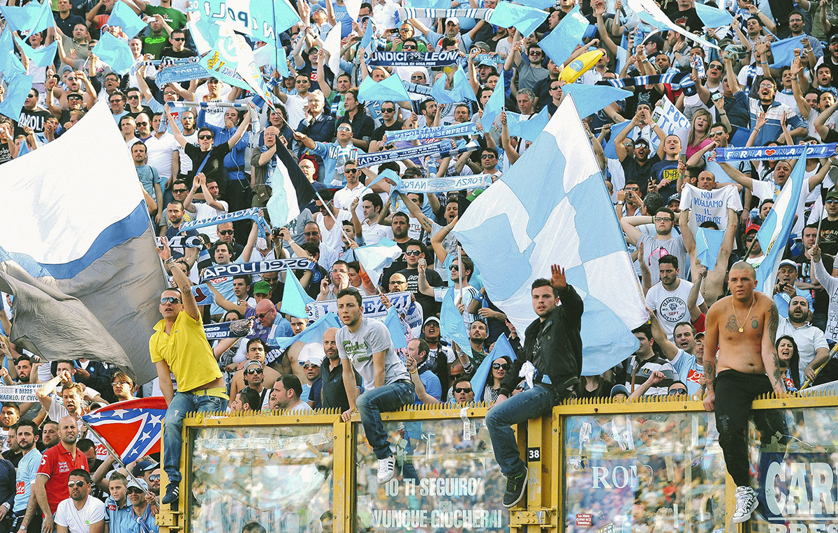 I tifosi del Napoli. Foto Getty
