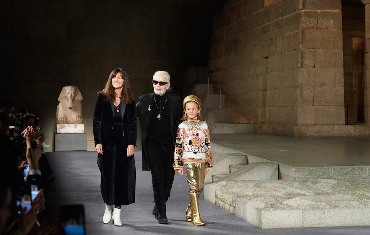 Karl Lagerfeld e Virginie Viard lo scorso dicembre. Foto: Olivier Saillant