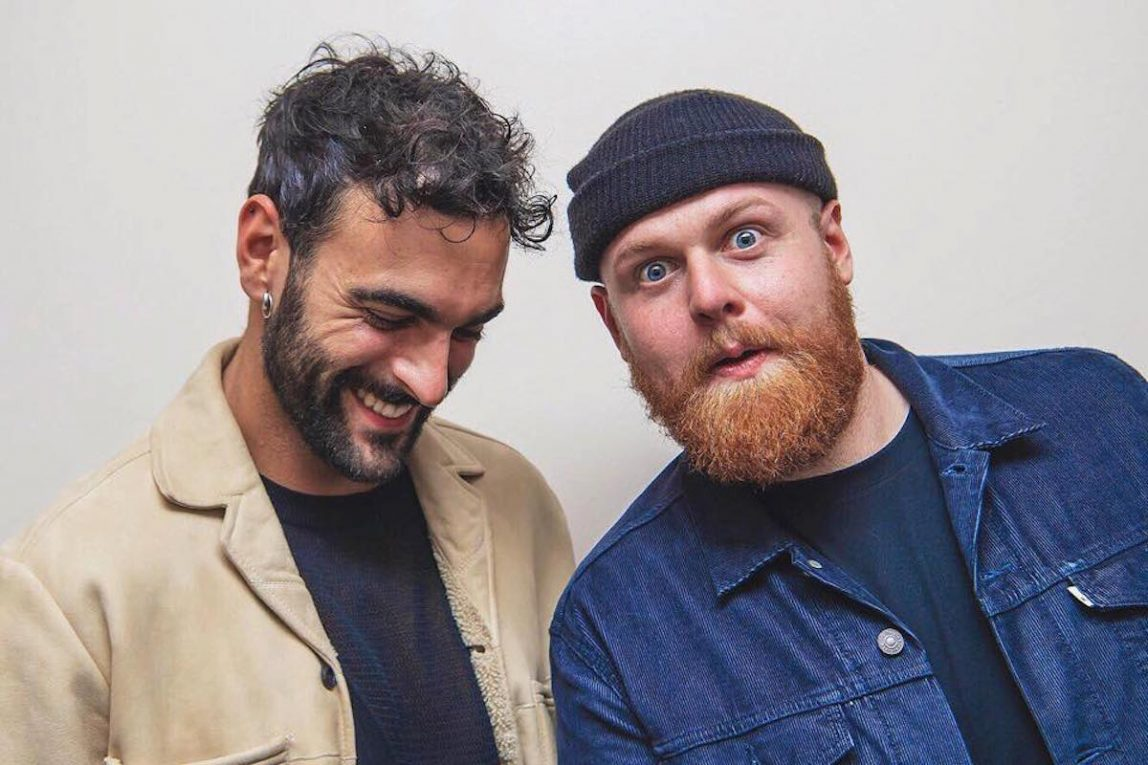 Marco Mengoni e Tom Walker. Foto via Facebook ufficiale