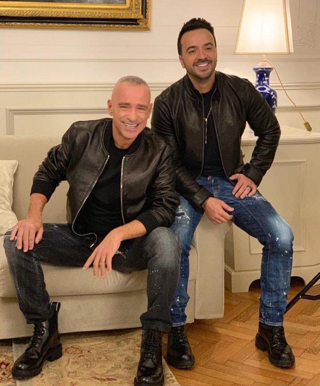Eros Ramazzotti e Luis Fonsi, foto via Facebook