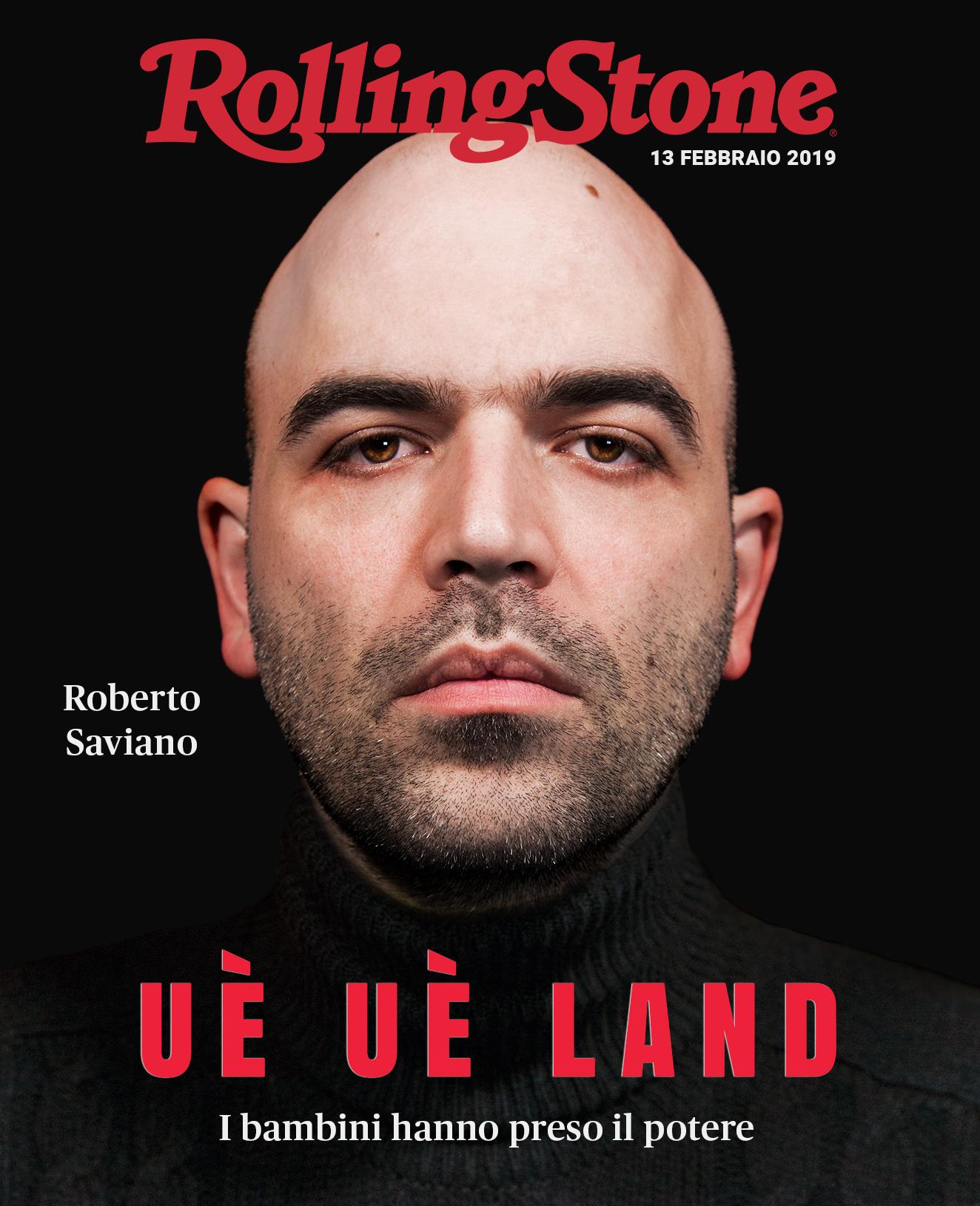 Roberto Saviano e Claudio Giovannesi digital cover Rolling Stone Italia