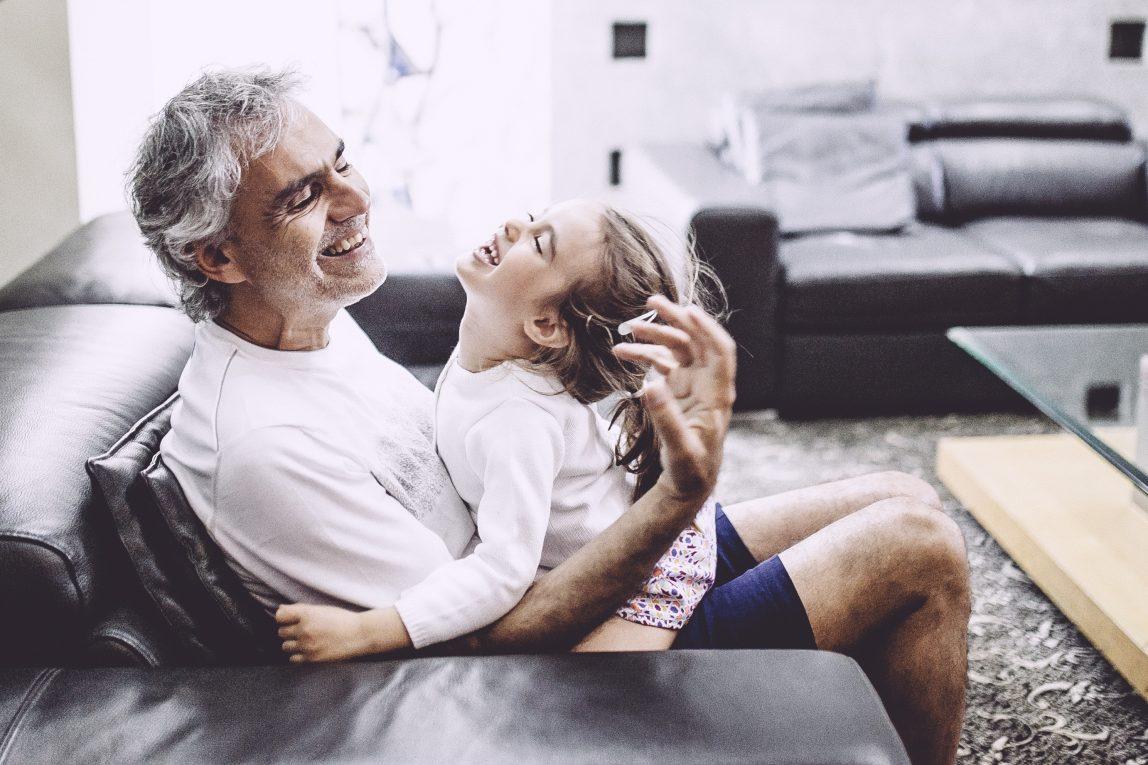Andrea Bocelli e sua figlia Virginia.