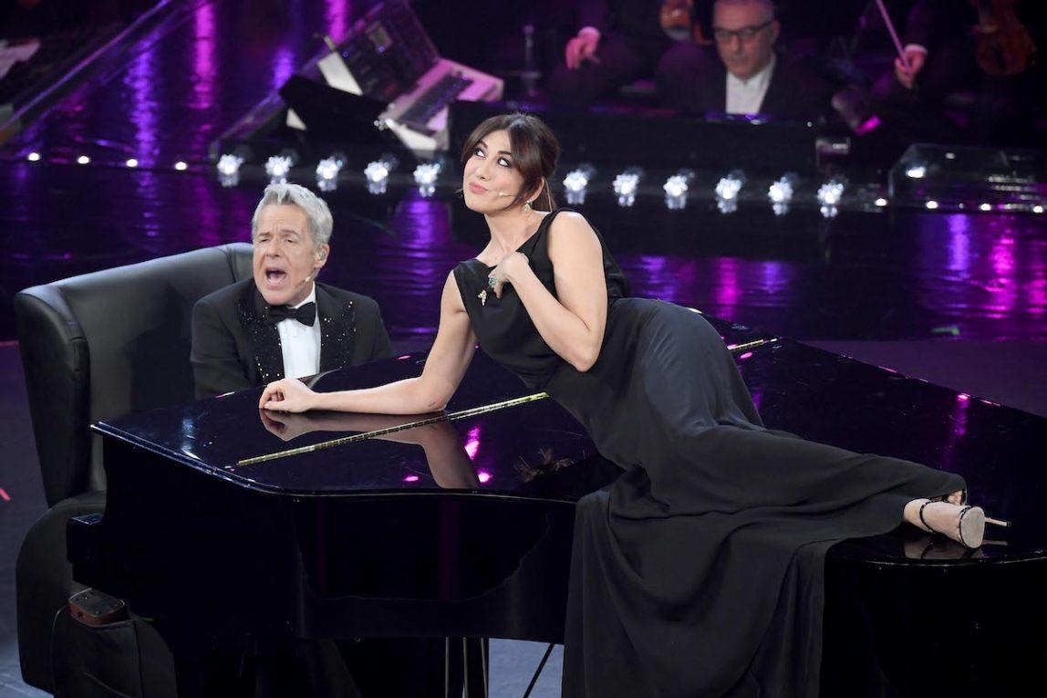 Sanremo, 69° Festival della canzone Italiana 2019. Seconda Serata. Virginia Raffaele Claudio Baglioni e il Pianoforte