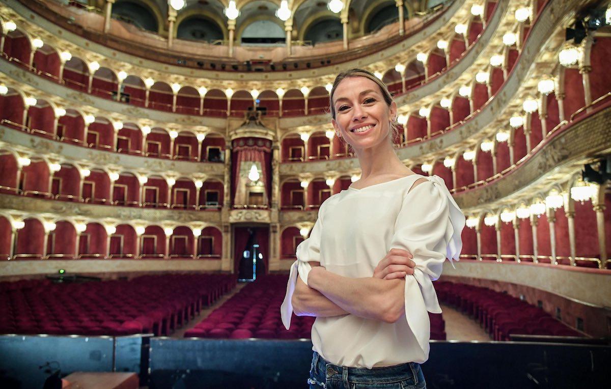Eleonora Abbagnato, sul palco dell'Ariston con Arisa