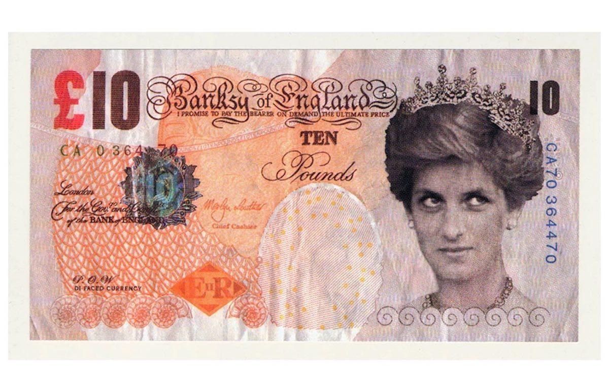 La banconota (falsa) creata da Banksy nel 2004