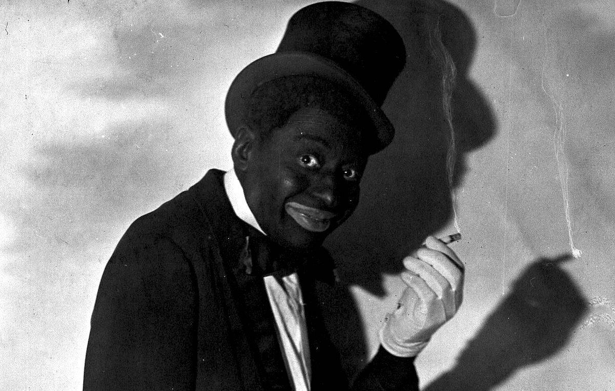 """Un'immagine storica dell'attore Bert Williams, con la """"blackface"""""""
