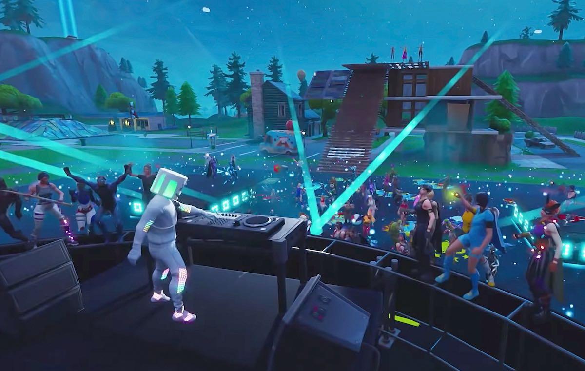 Un'immagine del concerto di Marshmello per 'Fortnite'