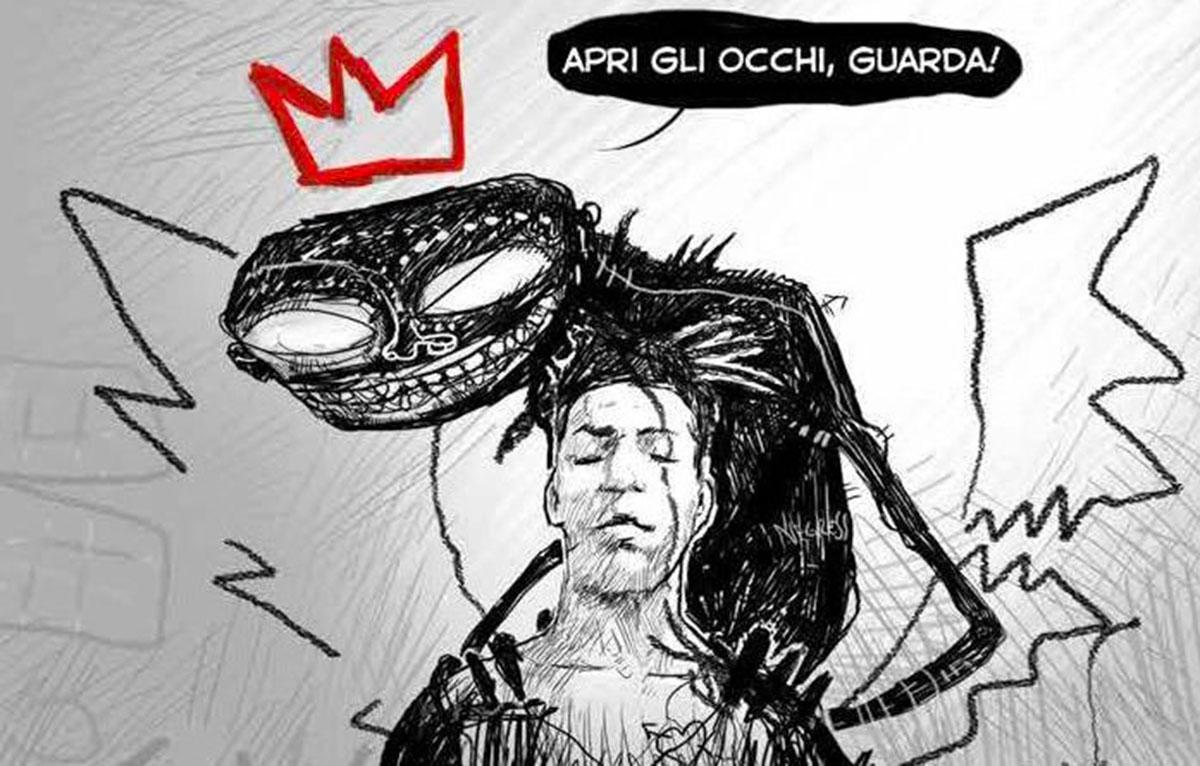 """Un'immagine da """"Basquiat – About Life"""" di Gabriele Benefico e Fabrizio Liuzzi"""