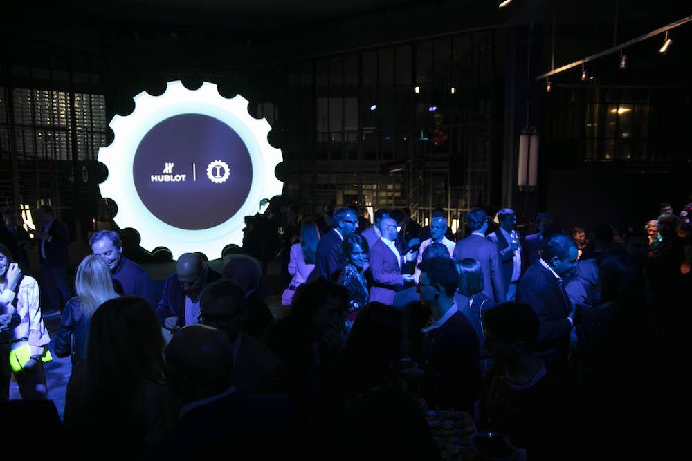 Un'immagine del party di lancio della collaborazione tra Hublot e Garage Italia
