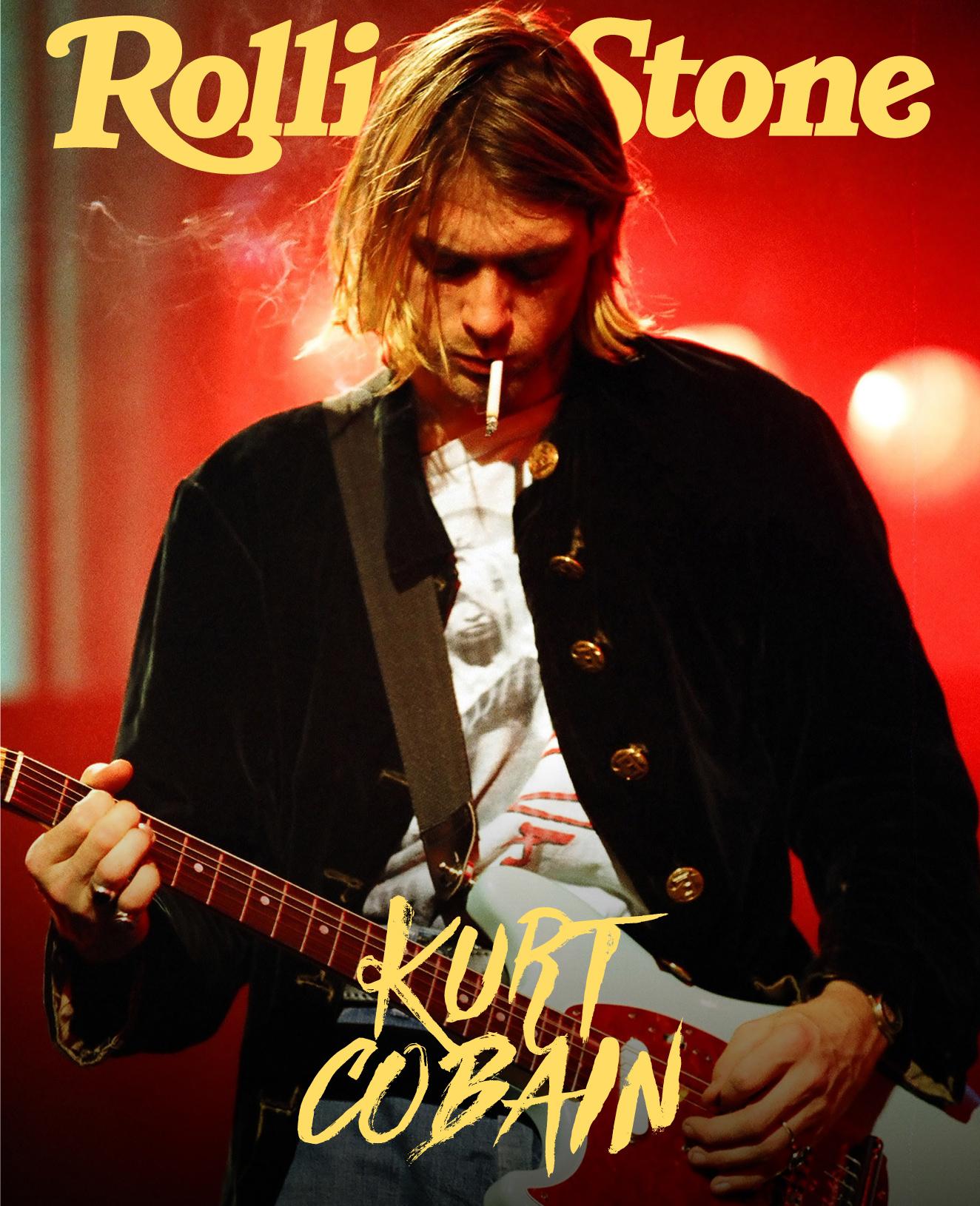 Kurt Cobain digital cover Rolling Stone Italia