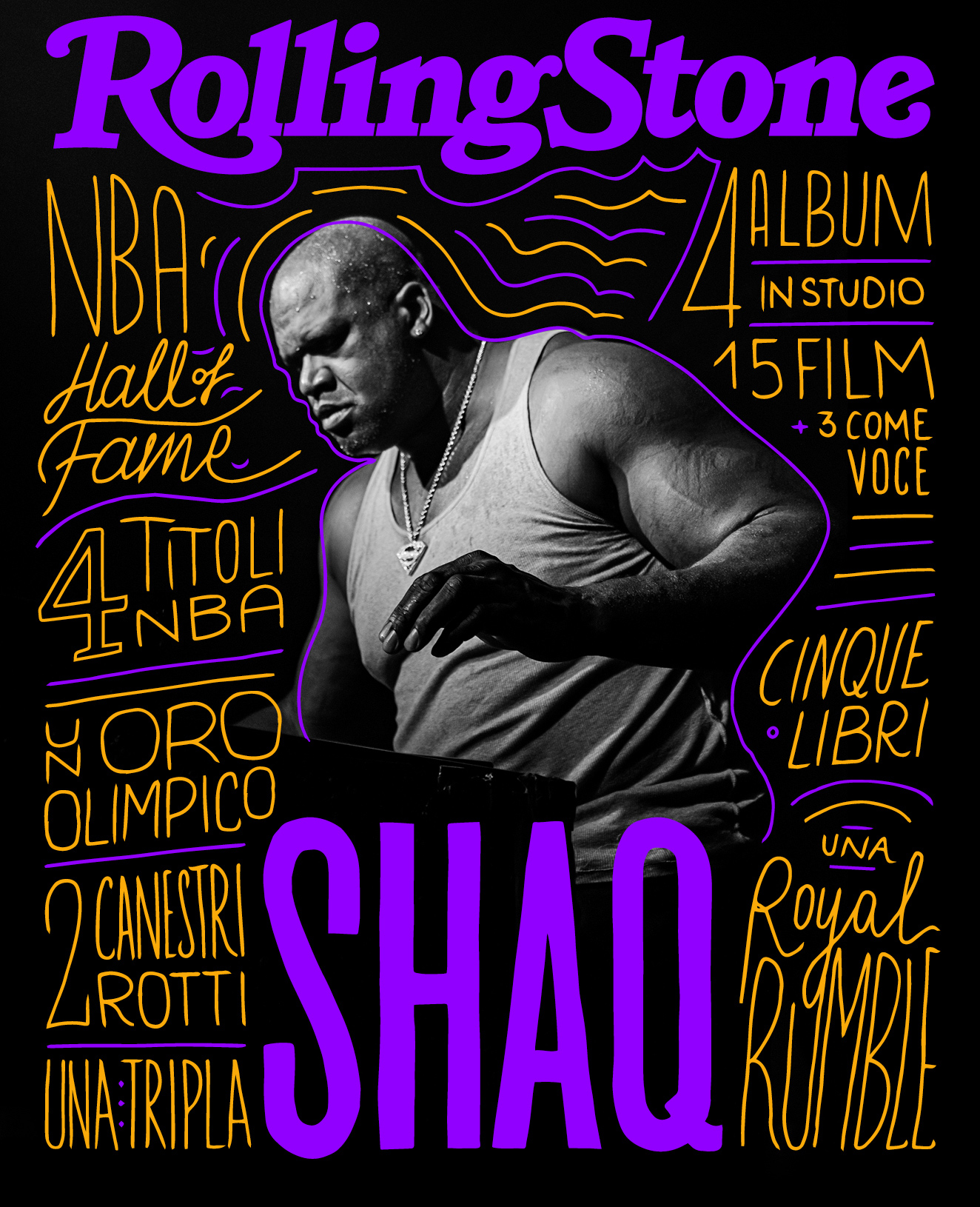 Shaquille O'Neal digital cover Rolling Stone Italia