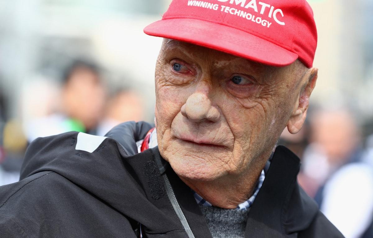 La Ferrari di Lauda tra le fiamme al Nürburgring