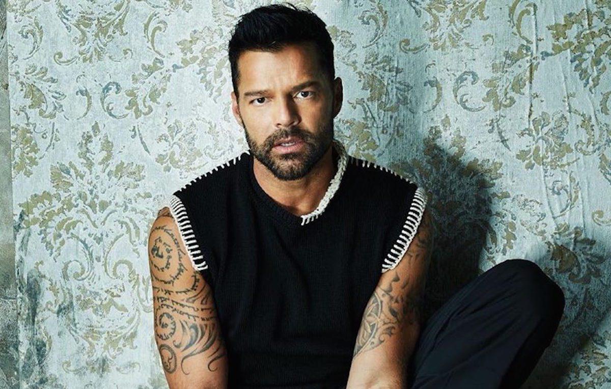 Ricky Martin. Foto via pagina Facebook ufficiale
