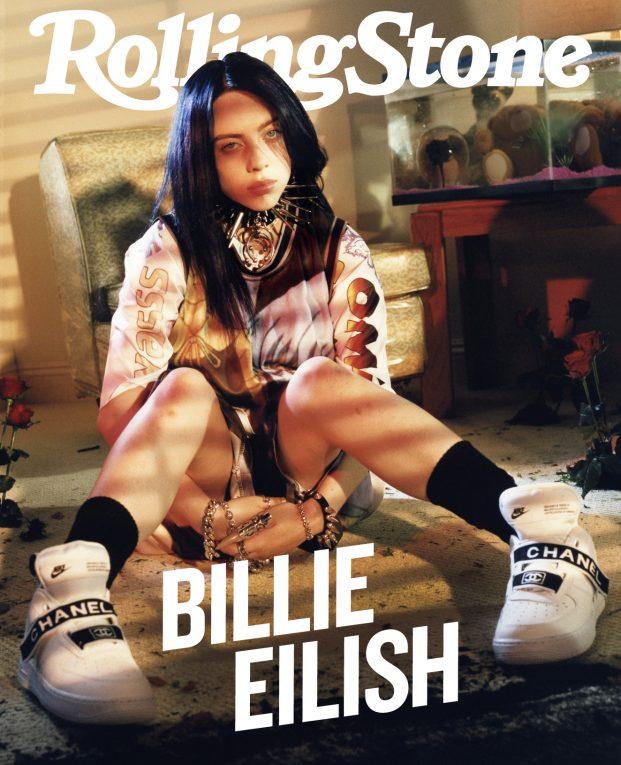 Billie Eilish fotografata a Los Angeles il 21 Maggio 2019 da Petra Collins per Rolling Stone.