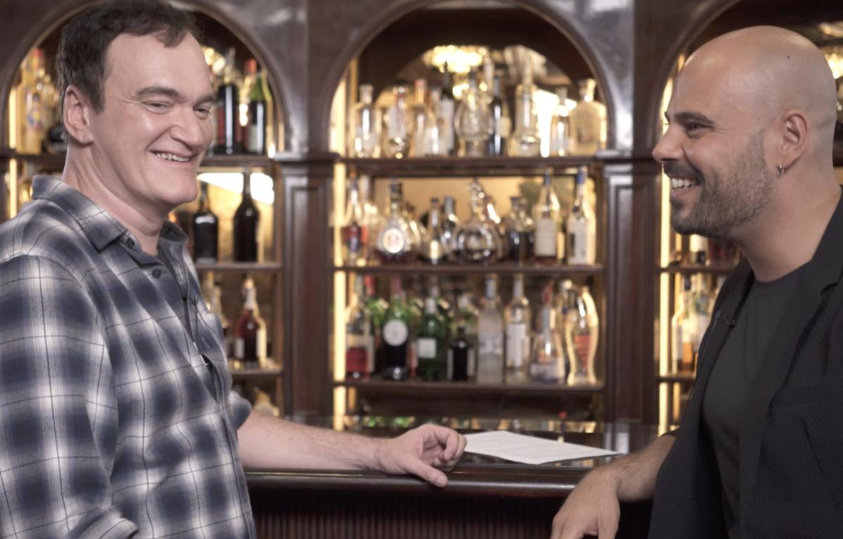 Quentin Tarantino e Marco D'Amore a Roma