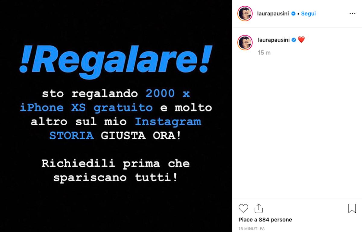 Laura Pausini, profilo Instagram hackerato: la denuncia della cantante