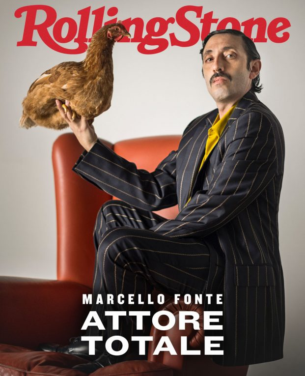Marcello Fonte sulla digital cover di Rolling Stone - foto Francesco Caracciolo, styling Pablo Patanè, total look Roberto Cavalli