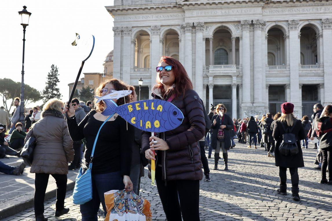 Cosa abbiamo visto alla manifestazione delle Sardine di Roma