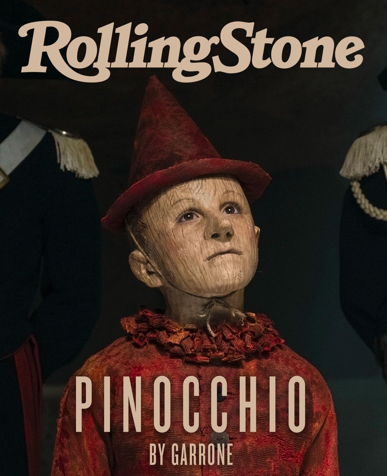 Pinocchio by Matteo Garrone digital cover Rolling Stone Italia