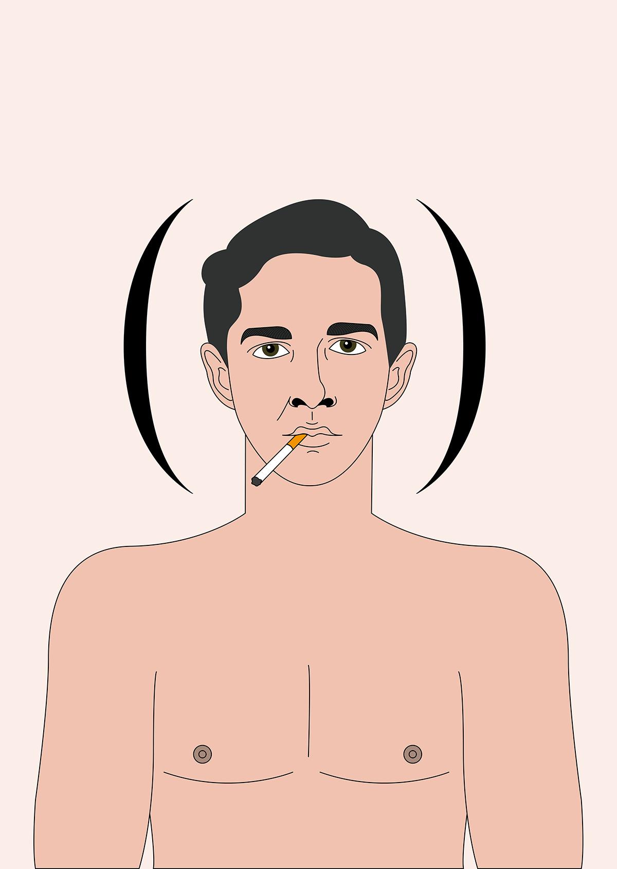 Shia LaBeouf Honey boy - illustrazione di Stefania Magli