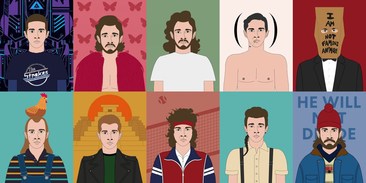 Shia LaBeouf Honey boy - illustrazioni di Stefania Magli