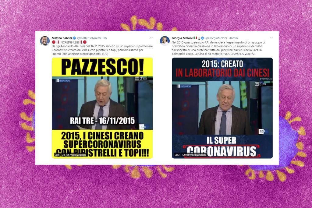 """Da dove viene la bufala di Salvini sul coronavirus """"creato in laboratorio"""""""