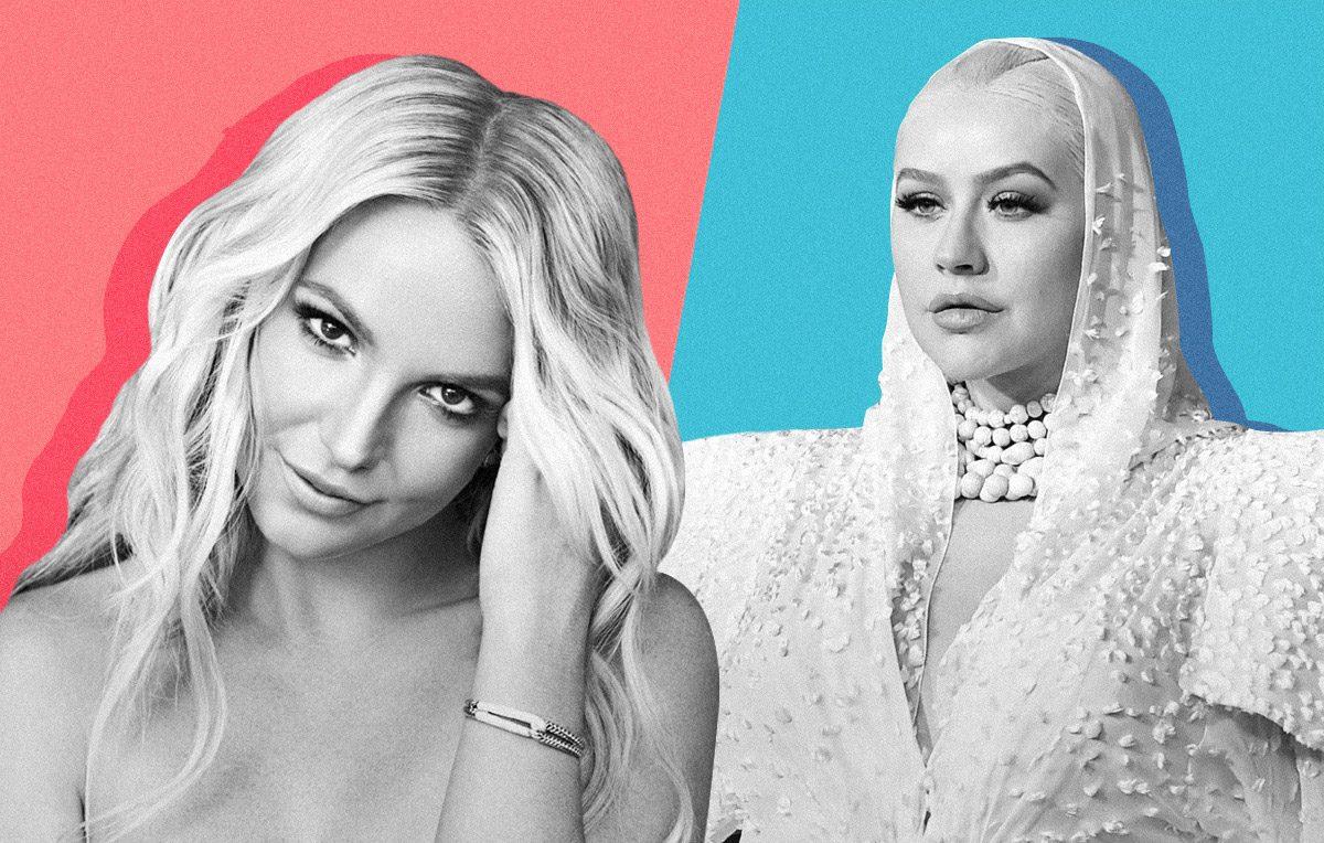 Britney Spears & Christina Aguilera | Artwork Stefania Magli