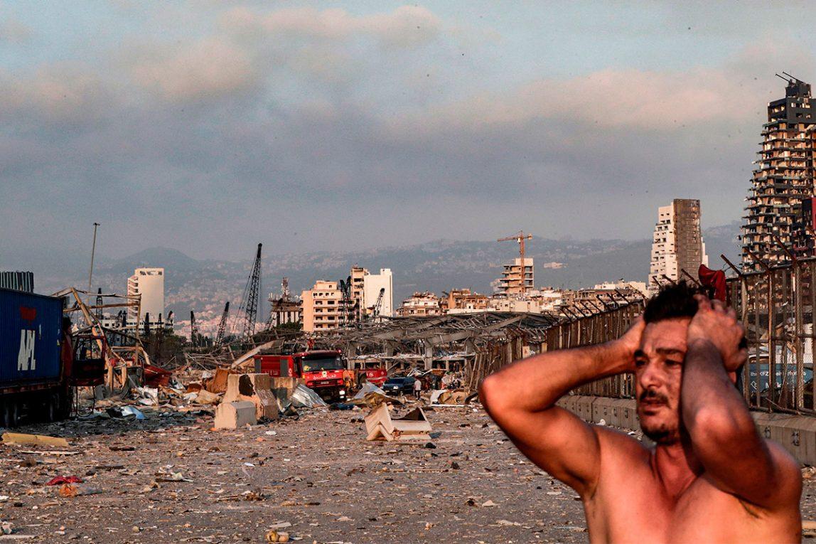 Foto esplosione Beirut