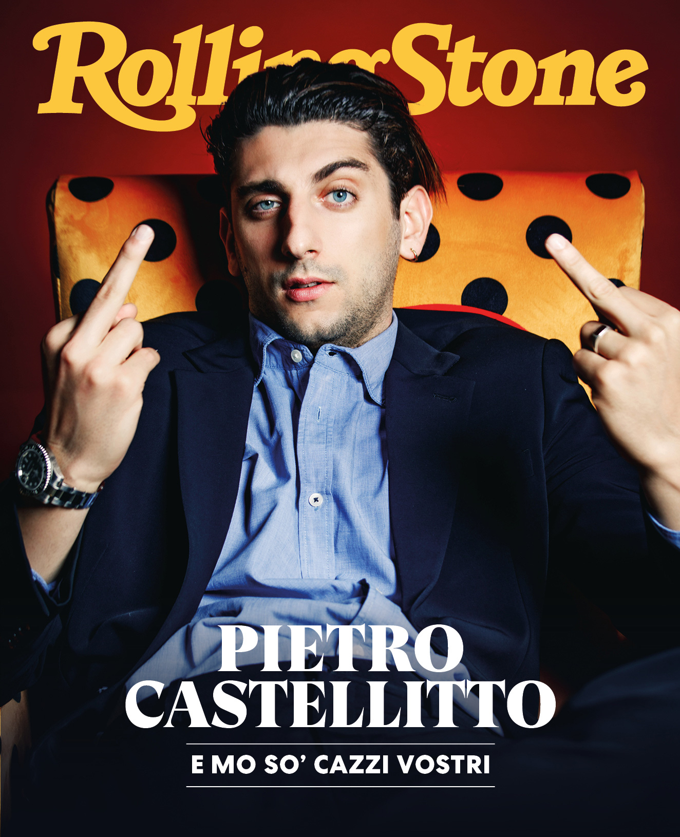 Pietro Castellitto digital cover Rolling Stone Italia