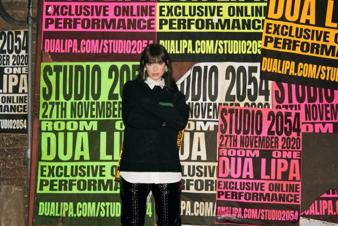 dua lipa studio 2054