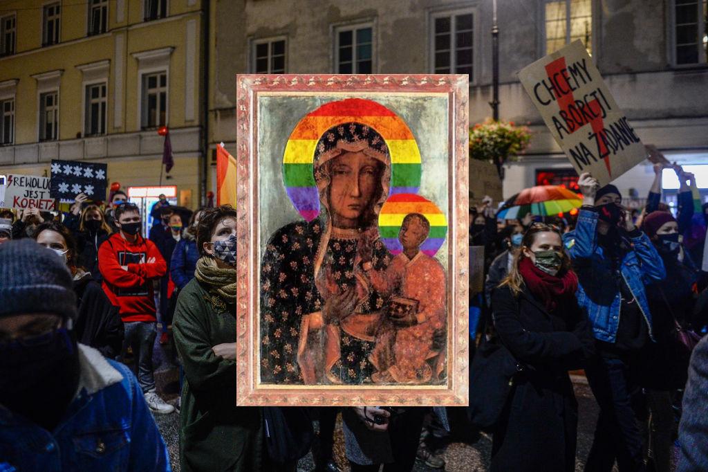 "La Polonia processa la ""Madonna arcobaleno"""