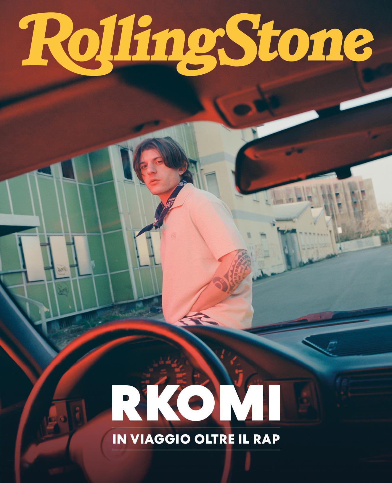 Rkomi digital cover Rolling Stone Italia