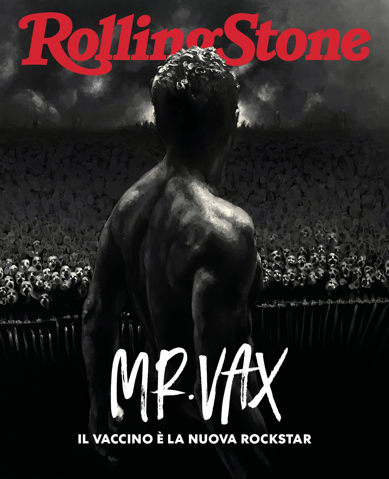 Mr Vax digital cover Rolling Stone Italia