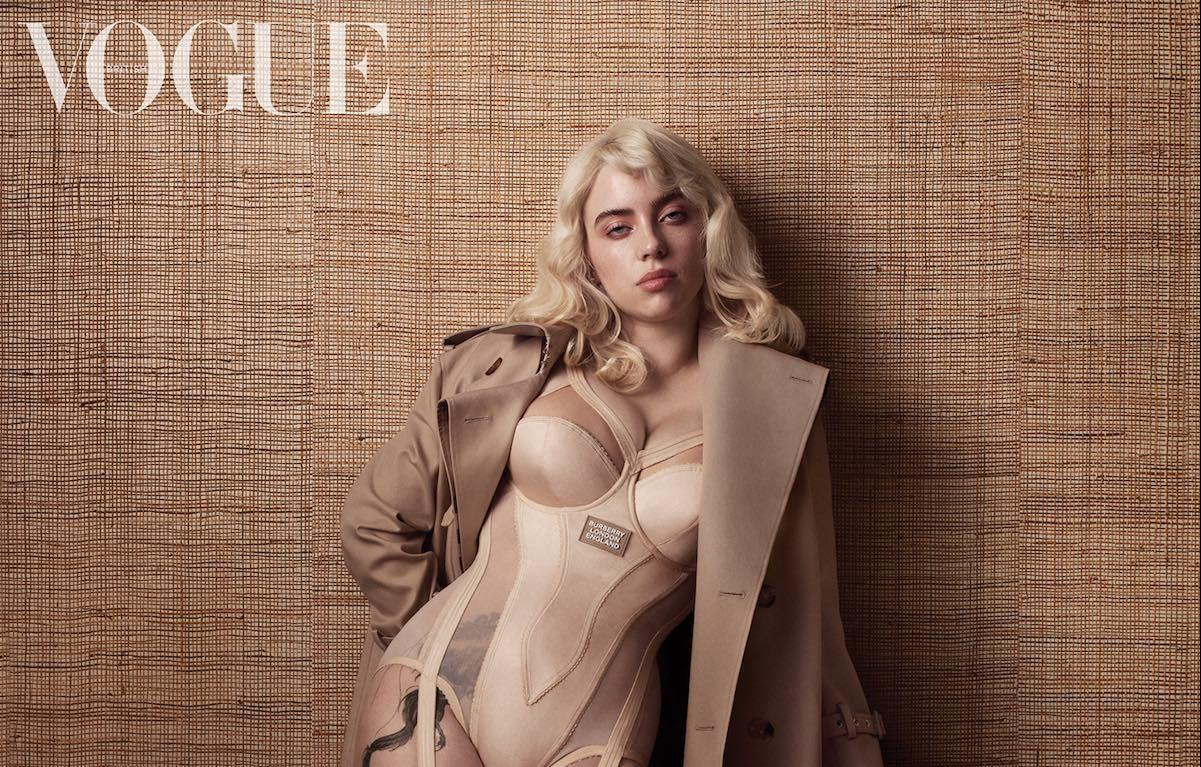 Billie Eilish sulla cover di Vogue UK. Foto: Craig McDean